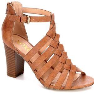 XOXO Baxter Strappy Sandals - Neutral